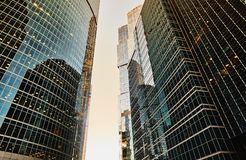 District Moscow city. Business centre. stock image