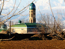 District mosque. The mosque of Rudaki district near Dushanbe Tajikistan Stock Images