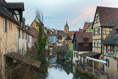 District of Petite Venise in Colmar Stock Photo