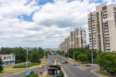 District of residential multi-storey houses in Burgas, Bulgaria royalty free stock image