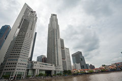District Riverside in Singapore Stock Photography