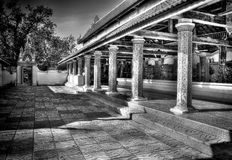 In the district of Tak. The district of Tak in black and white Royalty Free Stock Images