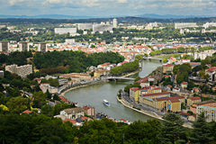 District of Vaise at Lyon city. View of Lyon city in France, district of Vaise Royalty Free Stock Photography