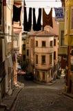 District van Balat Istanboel Stock Foto's