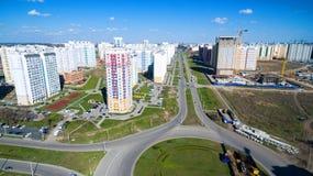 District van de stad met nieuwe gebouwen Royalty-vrije Stock Foto's