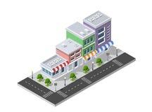 District van de stadsstraat stock illustratie