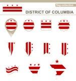 District van de Vlaginzameling van Colombia vector illustratie