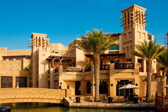 District van Madinat Jumeirah 3, 2013 in Doubai. Royalty-vrije Stock Fotografie