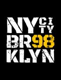 District van New York brooklyn royalty-vrije illustratie