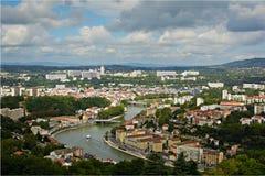 District van Vaise in Lyon, Frankrijk Royalty-vrije Stock Afbeeldingen