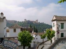 Districto árabe en Granada Foto de archivo libre de regalías