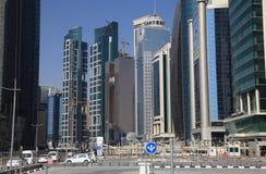 Districto céntrico de Doha, Qatar fotos de archivo