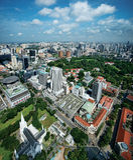 Districto cívico de Singapur Imagen de archivo