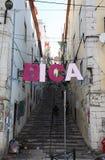 Districto de Bica en Lisboa Imagen de archivo
