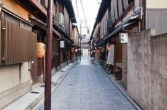 Districto de Gion, Japón Fotos de archivo libres de regalías