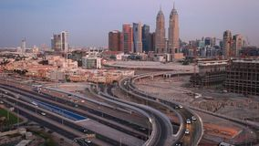 Districto de la parte alta de Dubai almacen de video