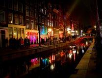 Districto de luz roja Amsterdam Fotos de archivo