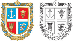 Districto de Reni del emblema de Ucrania ilustración del vector