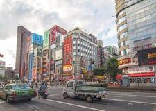 Districto de Shinjuku en Tokio, Japón Foto de archivo libre de regalías