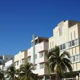 Districto del art déco de Miami foto de archivo