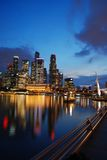 Districto del buisiness de Singapur Fotografía de archivo libre de regalías