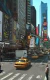 Districto del teatro de Nueva York Fotografía de archivo libre de regalías