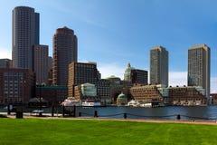 Districto financiero de Boston Foto de archivo libre de regalías