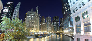 Districto financiero de Chicago Imágenes de archivo libres de regalías