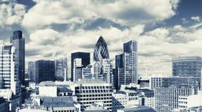 Districto financiero de Londres Imagen de archivo libre de regalías