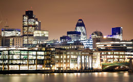Districto financiero de Londres Fotografía de archivo libre de regalías
