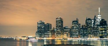 Districto financiero de Manhattan Imagen de archivo