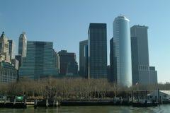 Districto financiero de New York City Fotografía de archivo libre de regalías