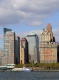 Districto financiero de Nueva York foto de archivo libre de regalías