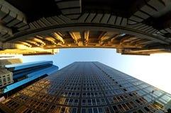 Districto financiero en NY Fotos de archivo libres de regalías