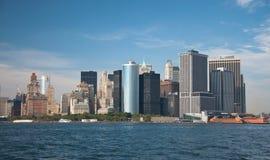 Districto financiero, New York City Imagen de archivo libre de regalías