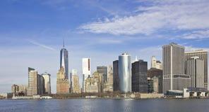 Districto financiero Nueva York Foto de archivo libre de regalías