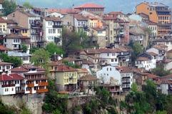 Districto residencial congestionado de Veliko Tarnovo imágenes de archivo libres de regalías