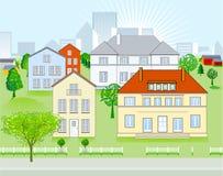 Districto urbano ilustración del vector