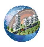 Districto urbano stock de ilustración