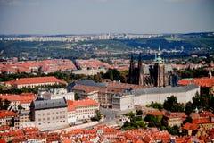 Districts historiques de Prague Image libre de droits