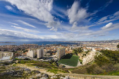 Districts of Marseille city, France. Districts of Marseille city Royalty Free Stock Photography