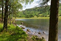 Distrito Cumbria Inglaterra Reino Unido do lago Blea Tarn entre grande Langdale e pouco Langdale Foto de Stock Royalty Free