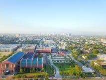 Distrito da divisão da vista aérea quarto a oeste de Houston do centro, Texas foto de stock