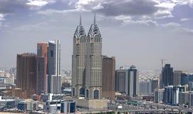 Distrito da parte alta da cidade de Dubai Fotografia de Stock Royalty Free