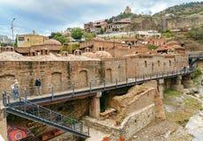 Distrito de Abanotubani en la ciudad vieja de Tbilisi georgia Foto de archivo libre de regalías