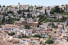 Distrito de Albaicin, Granada Fotografia de Stock