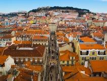 Distrito de Baixa, Lisboa, Portugal Foto de Stock Royalty Free