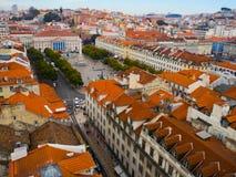 Distrito de Baixa, Lisboa, Portugal Imagens de Stock Royalty Free