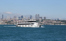 Distrito de Besiktas na cidade de Istambul Foto de Stock
