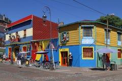 Distrito de Boca del La en Buenos Aires Foto de archivo libre de regalías